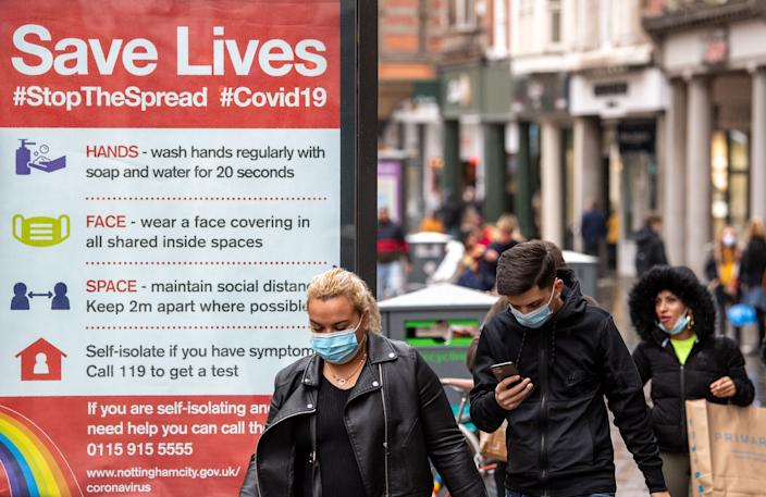 The number of coronavirus cases in England continues to rise as the government resists calls for a second national lockdown. (PA)