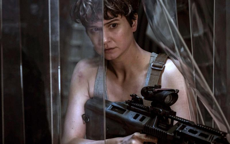 Katherine Waterston in a scene from Alien: Covenant - Credit: 20th Century Fox