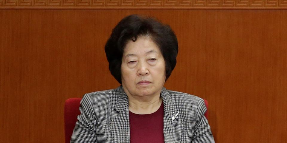 China's Politburo Standing Committee member and Vice Premier Sun Chunlan, pictured here in 2016, arrived in Jilin to address the renewed outbreak on May 13.