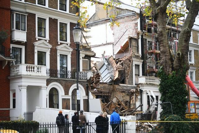 Collapsed houses in Chelsea