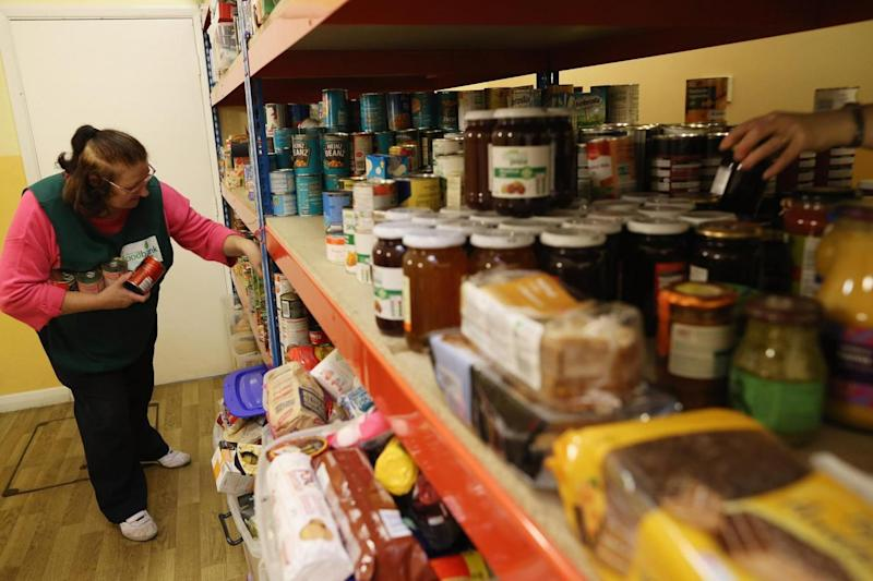 A Trussell Trust food bank in St Paul's Church in Brixton in 2012. (Getty Images)