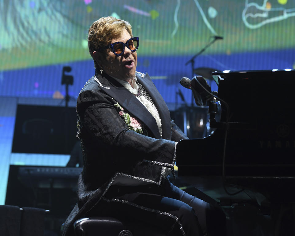SUNRISE FL - MARCH 16: Sir Elton John performs during his 'Farewell Yellow Brick Road' tour at The BB&T Center on March 16, 2019 in Sunrise, Florida. Credit: mpi04/MediaPunch /IPX