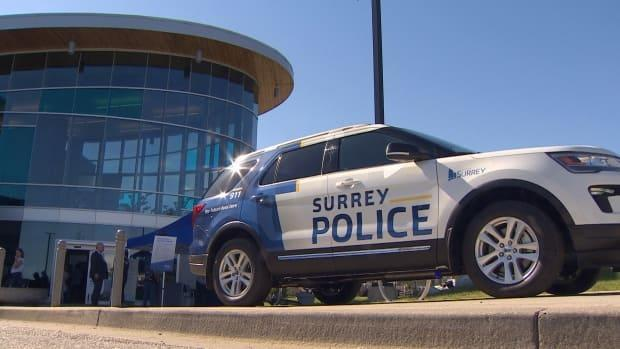 The Surrey Police Service will have its first boots on the ground in November with the introduction of 50 municipal police officers, according to a statement from the force. (CBC - image credit)