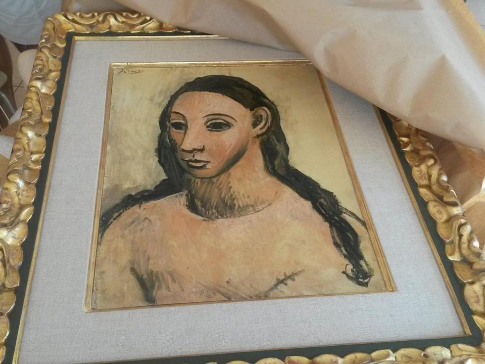 The Picasso painting 'Head of a Young Woman' has been seized by Spanish authorities: AFP/Getty