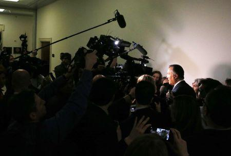 House Freedom Caucus member Franks talks to reporters on Capitol Hill after White House meeting on healthcare legislattion in Washington