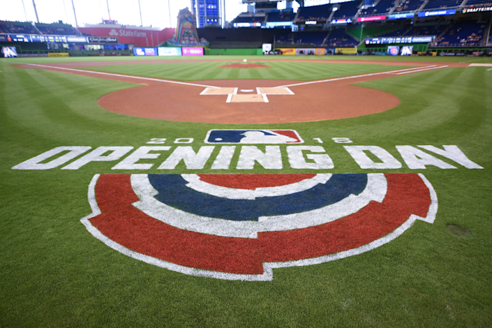 "Major League Baseball missed a golden — actually, a red-white-and-blue — marketing opportunity by failing to launch its season on July 4. <span class=""copyright"">(Mark Brown / Getty Images)</span>"