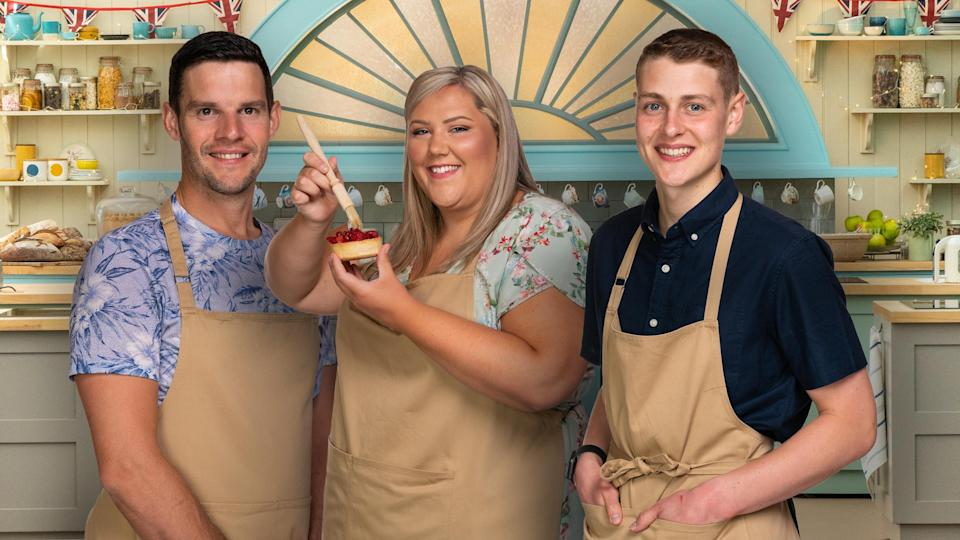 <p>Dave, Laura, and Peter competed in 'The Great British Bake Off' final</p> (Channel 4)