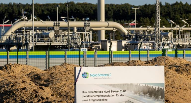 Ukraine's president has spoken out against Nord Stream 2, a Baltic Sea pipeline set to double natural gas supplies from Russia to Germany (AFP/Odd ANDERSEN)
