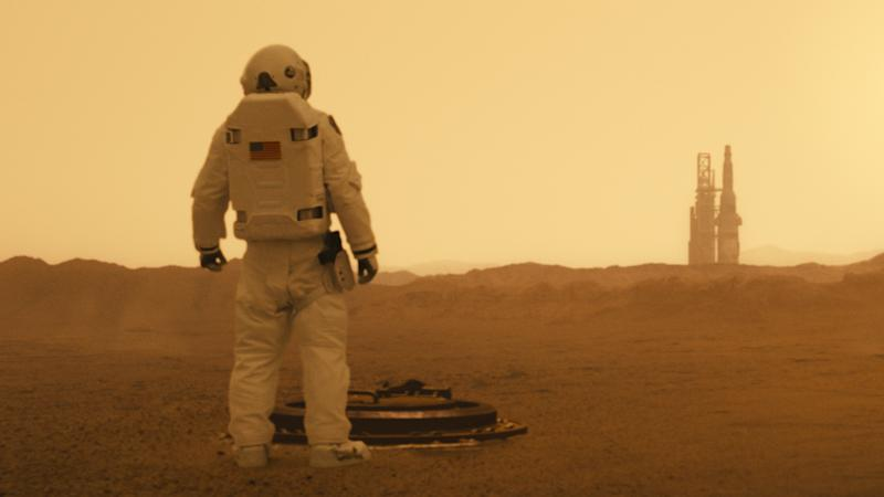 Brad Pitt's space traveller visits Mars in 'Ad Astra'. (Credit: 20th Century Fox)