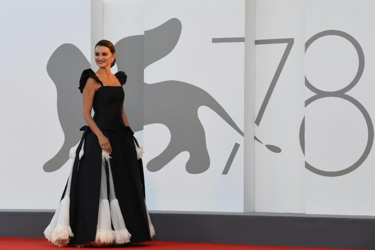 Cruz wore a monochrome Chanel on the red carpet for the opening of the 78th Venice film festival. (AFP/Filippo MONTEFORTE)