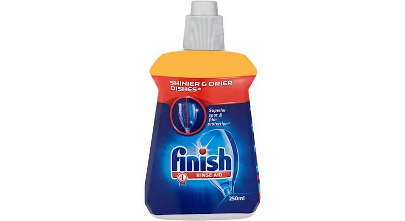 Finish Rinse Aid for shinier and drier dishes