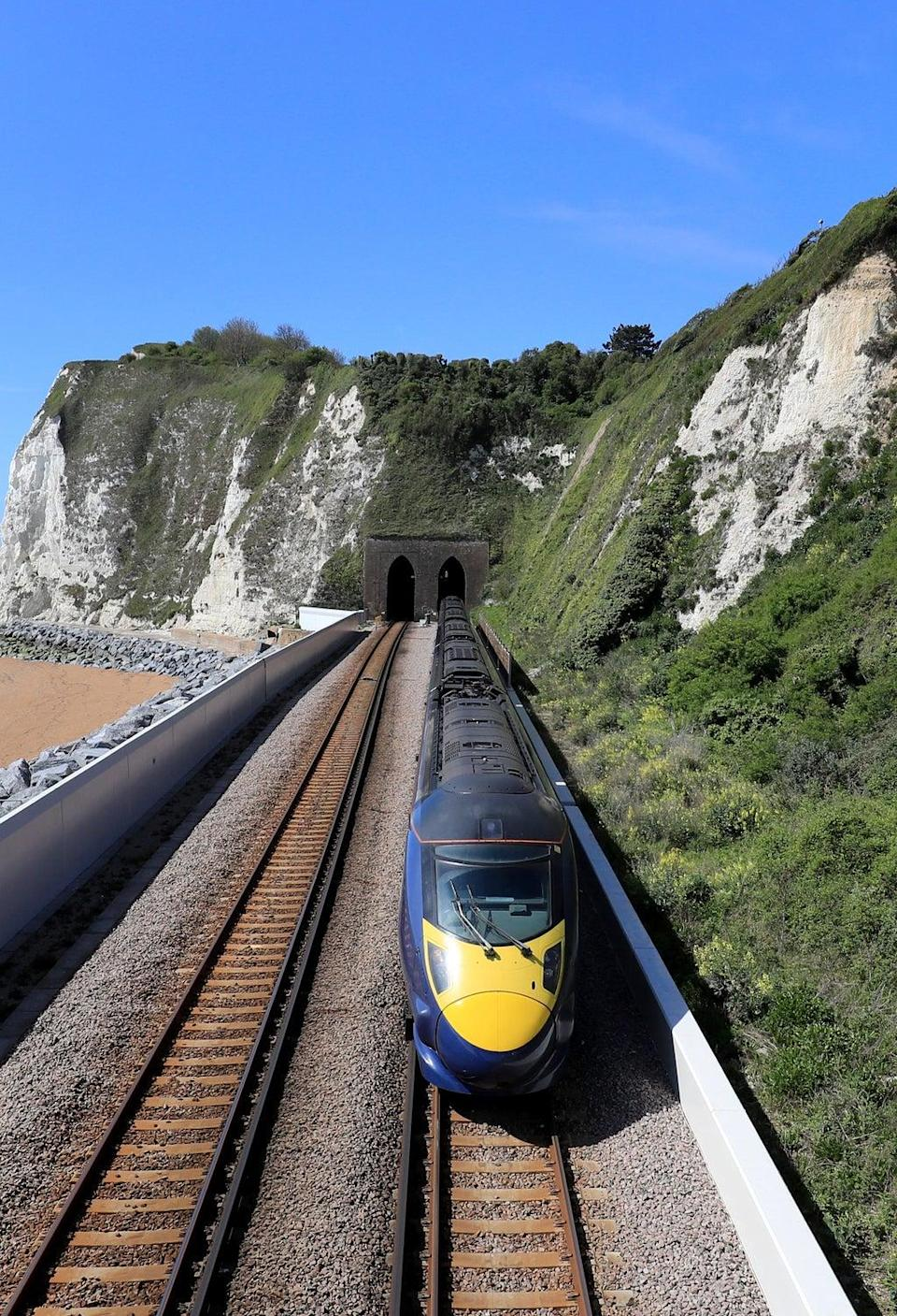 A Southeastern Highspeed Javelin train passes through Dover in Kent (Gareth Fuller/PA) (PA Archive)
