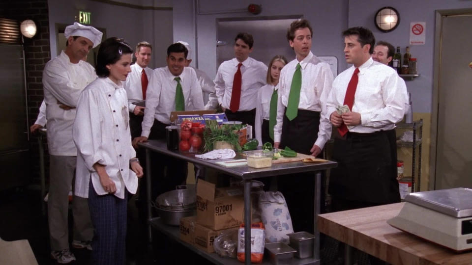 <p> Not an episode you&#x2019;ll find on many best lists, but this is a genuine gem. The highlight is when Monica hires Joey at her restaurant, because the other kitchen staff are picking on her, and she wants an ally. When she tries to fire Joey to demonstrate her authority, the out of work actor refuses to go because he makes too much money in tips (and he gets to call himself Dragon). Meanwhile, Ross is dating two women at once - a dull girl in the city, and the titular one he meets on the train to Poughkeepsie. Obviously it ends badly, and he ends up finishing with both of them, but not before falling asleep on the train and ending up in Montreal. There&#x2019;s little special about the episode, but the jokes are strong and the situational comedy is sharp. </p> <p> <strong>Best line:</strong>&#xA0;Joey: I was gonna do it! Really! But I was standing there with 327 dollars in one hand and 238 dollars in the other hand, and I was thinking, &#x2018;Wow! It&#x2019;s been a long time since I had&#x2026; (tries to do the math in his head, but can&#x2019;t) 327 + 238 dollars!&#x2019; </p>
