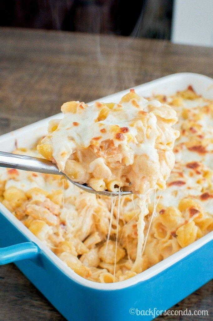 """<p>Combine spicy buffalo with creamy alfredo and we're totally done for.</p><p>Get the recipe from <a href=""""http://backforseconds.com/buffalo-chicken-alfredo-bake/"""" rel=""""nofollow noopener"""" target=""""_blank"""" data-ylk=""""slk:Back For Seconds"""" class=""""link rapid-noclick-resp"""">Back For Seconds</a>.</p>"""