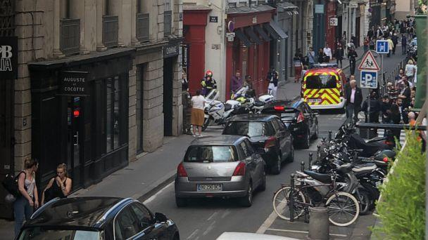 PHOTO: Authorities in the Auvergne-Rhone region of France said in a Twitter post that the blast on a street corner in Lyon caused minor injuries, May 24, 2019. (midesi69/Twitter)