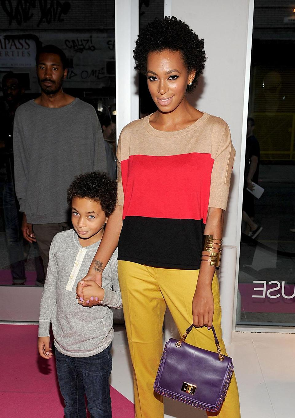 <p>Solange Knowles became a mother at 17. (Photo by Jamie McCarthy/WireImage for Macy's) </p>