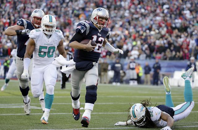 Run him out of town: Sen. Marco Rubio, a Dolphins fan, has a plan to get Tom Brady out of the AFC East. (AP)
