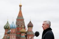 Mayor of Moscow Sobyanin attends a military parade to mark the anniversary of a historical parade in Moscow