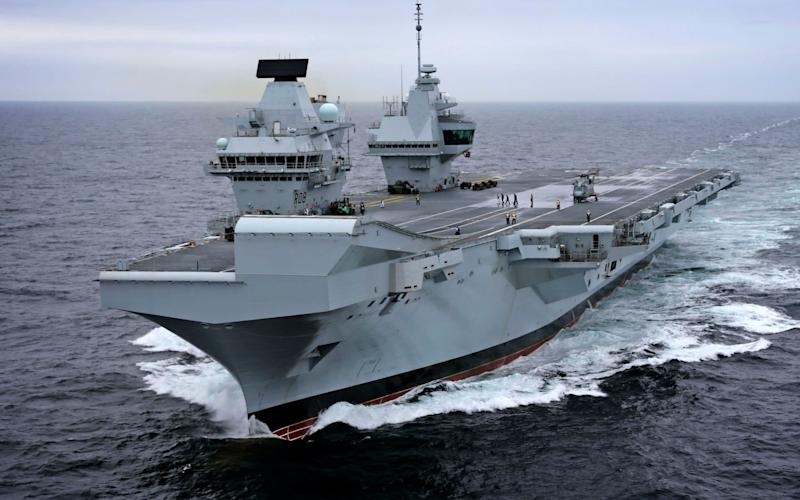 Pictured: Britain's new aircraft carrier, HMS Queen Elizabeth - Royal Navy