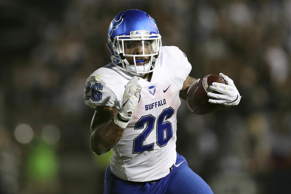 Buffalo RB Jaret Patterson is one of the most productive runners in college football. (AP Photo/Steve Luciano, File)
