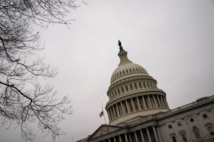 The U.S. Capitol Building is pictured on the fifth day of the impeachment trial of former U.S. President Donald Trump
