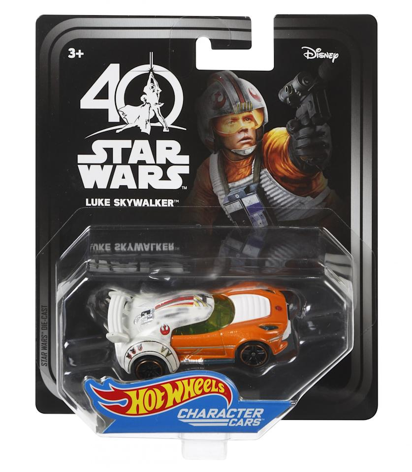 <p>This character car is modeled on Luke's X-wing jumpsuit. (Credit: Mattel) </p>