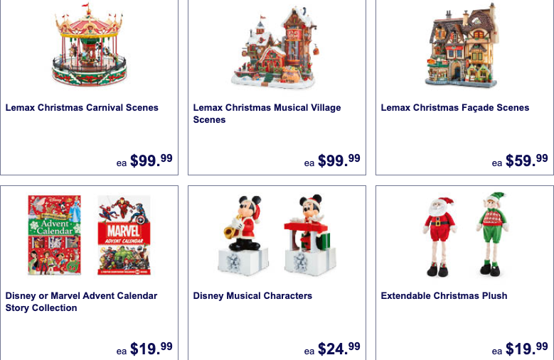 Christmas decorations and collectibles on sale as Special Buys at Aldi this week.