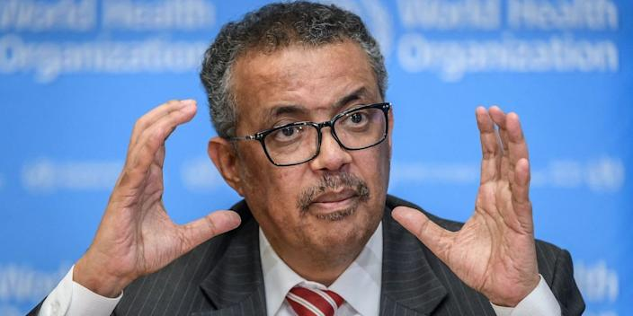 World Health Organization (WHO) Director-General Tedros Adhanom Ghebreyesus.