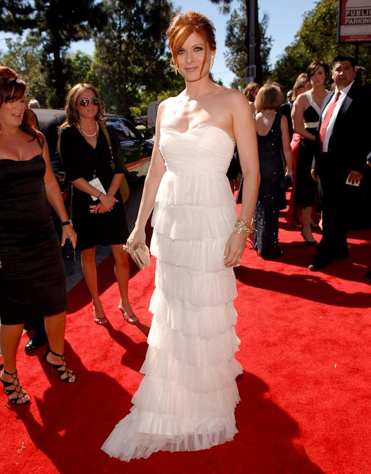 Debra Messing at the 58th Annual Primetime Emmy Awards in Los Angeles on August 27, 2006.