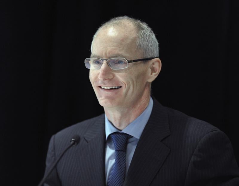 Inmet Mining Corporation President and Chief Executive Officer Tilk smiles during the annual general meeting of shareholders in Toronto