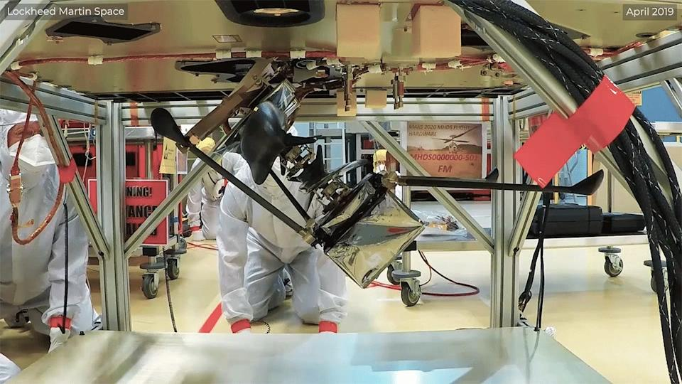 mars ingenuity helicopter perseverance rover delivery