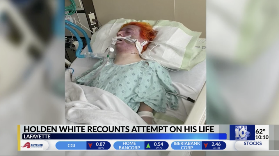 Holden White was in a coma, after Chance Seneca attacked him. Source: KLFY