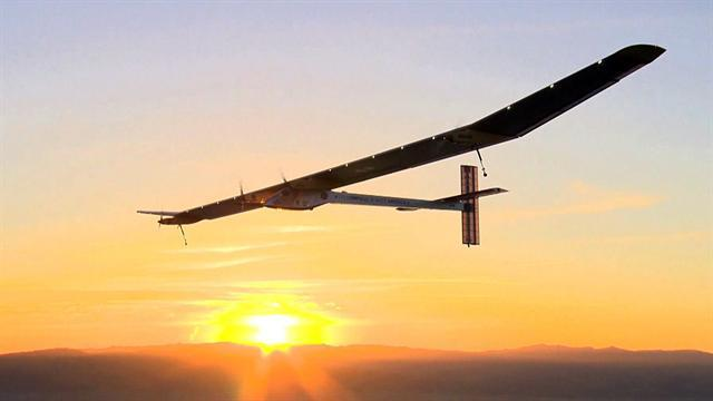 """John Blackstone and retired pilot Chesley """"Sully"""" Sullenberger take a look at an unusual aircraft called Solar Impulse. An airplane powered only by the sun."""