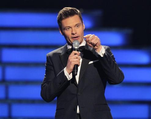 "Ryan Seacrest, $59 million: Ryan Seacrest presides over the 11th season finale of ""American Idol"" in Los Angeles, California, May 23, 2012."
