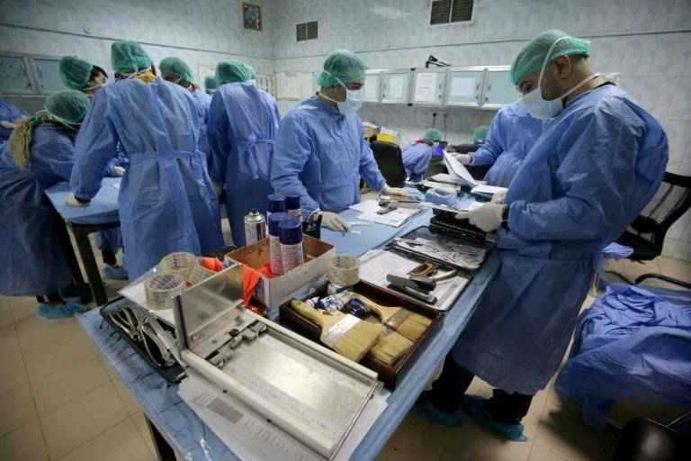 The Medico-Legal Directorate has logged the names of 1,280 missing individuals and is storing 1,050 blood sample cards (AFP Photo/AHMAD AL-RUBAYE)