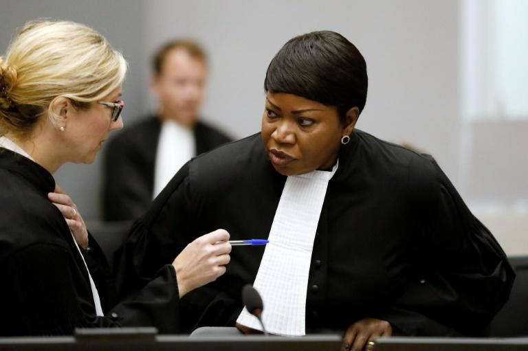 International Criminal Court prosecutors led by Fatou Bensouda (R) have detailed alleged atrocities by forces under former commander Bosco Ntaganda in DR Congo