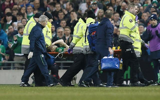 <span>The season looks to be over for Coleman</span> <span>Credit: rex </span>