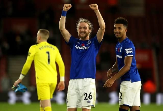 Tom Davies opened the scoring for Everton (Mark Kerton/PA)