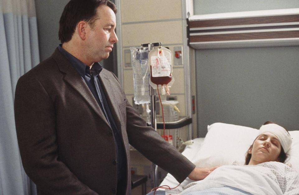 "<p>In the season three episode ""Monogamy,"" Ritter played Dr. Richard Manning. His character was a doctor accused of a grim crime: murdering his wife, and then removing her unborn child from the womb.<br></p>"