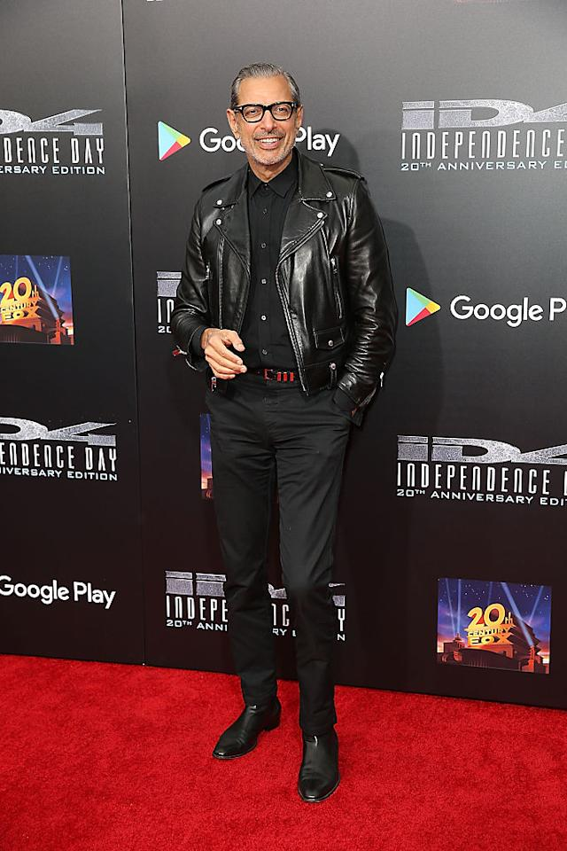 <p>Jeff Goldblum has reigned the sartorial stakes since the nineties so it wasn't surprising to see him take home third place for his slick tailoring and uber-cool weekend style. <em>[Photo: Getty]</em> </p>