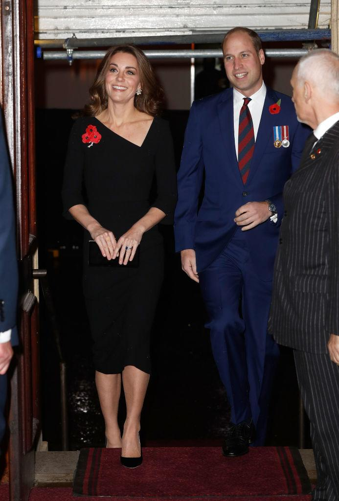 <p>The Duchess wore a Roland Mouret dress for the Royal British Legion Festival of Remembrance at the Royal Albert Hall on November 10. She accessorised the all-black ensemble with a brooch from the Queen's collection and Jimmy Choo shoes. <em>[Photo: Getty]</em> </p>