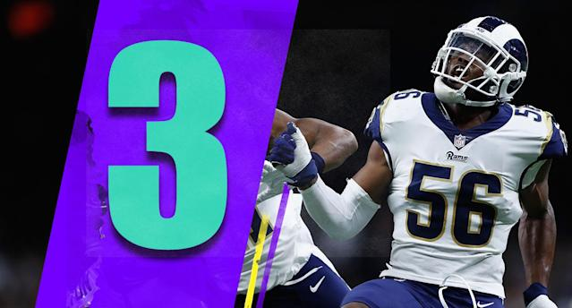 <p>It's tough to put the Rams at No. 3. And there's an argument for them to still be No. 1. But the Saints were still up on them by 21 at one point last weekend. (Garrett Sickels, Marqui Christian) </p>