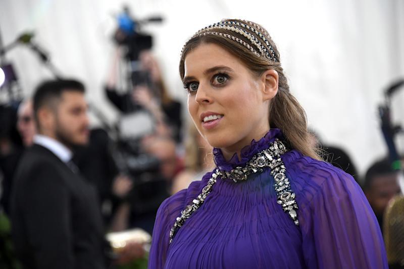 NEW YORK, NY - MAY 07: Princess Beatrice of York attends the Heavenly Bodies: Fashion & The Catholic Imagination Costume Institute Gala at The Metropolitan Museum of Art on May 7, 2018 in New York City. (Photo by Noam Galai/Getty Images for New York Magazine)