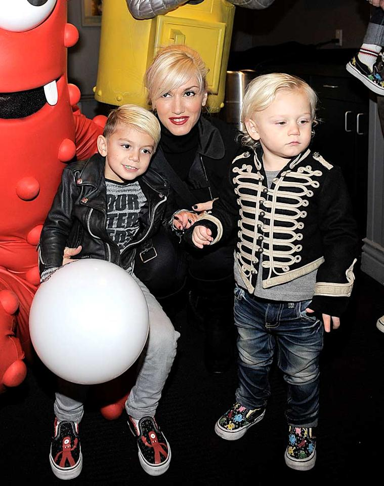 """When your mom is Gwen Stefani, you kind of get used to living in the spotlight! Her sons Kingston, 4, and Zuma, 2, are old pros when it comes to posing for photographers at events like the Yo Gabba Gabba! Live! show in Los Angeles. Charley Gallay/<a href=""""http://www.wireimage.com"""" target=""""new"""">WireImage.com</a> - November 27, 2010"""
