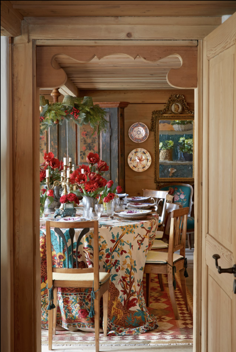 <p>Leftover Christmas decor, a vibrant variety of blooms, and heavily patterned textiles create a beautiful scene to enliven guests after a big night of celebrating. Here, at Nussbaumer's vacation home in Switzerland, her family can gather around a hot breakfast and chat about how the rest of festivities played out once they went their separate ways. This year, it can serve as a place for loved ones to share what they were thankful for in 2020 and their hopes for 2021 alongside a steaming cup of coffee.</p>
