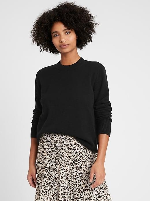 <p>There's just something about this <span>Banana Republic Relaxed Chunky Sweater</span> ($47, originally $80) paired with a silky slim or flared skirt. </p>