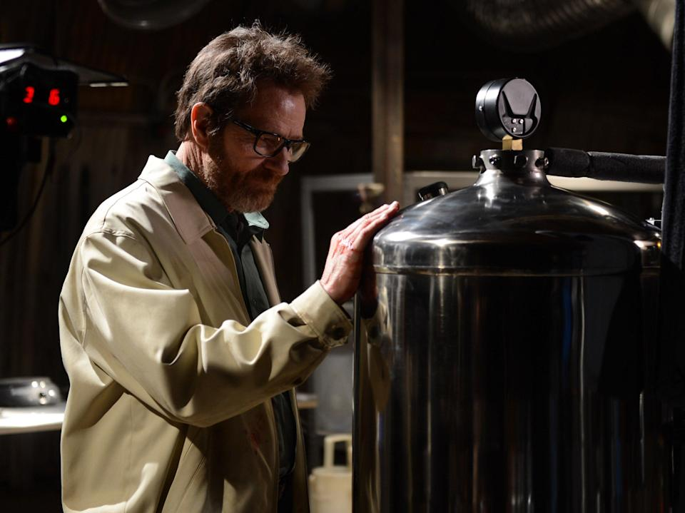 Bad to the bone: Bryan Cranston as Walter White in the divisive Breaking Bad finaleAMC