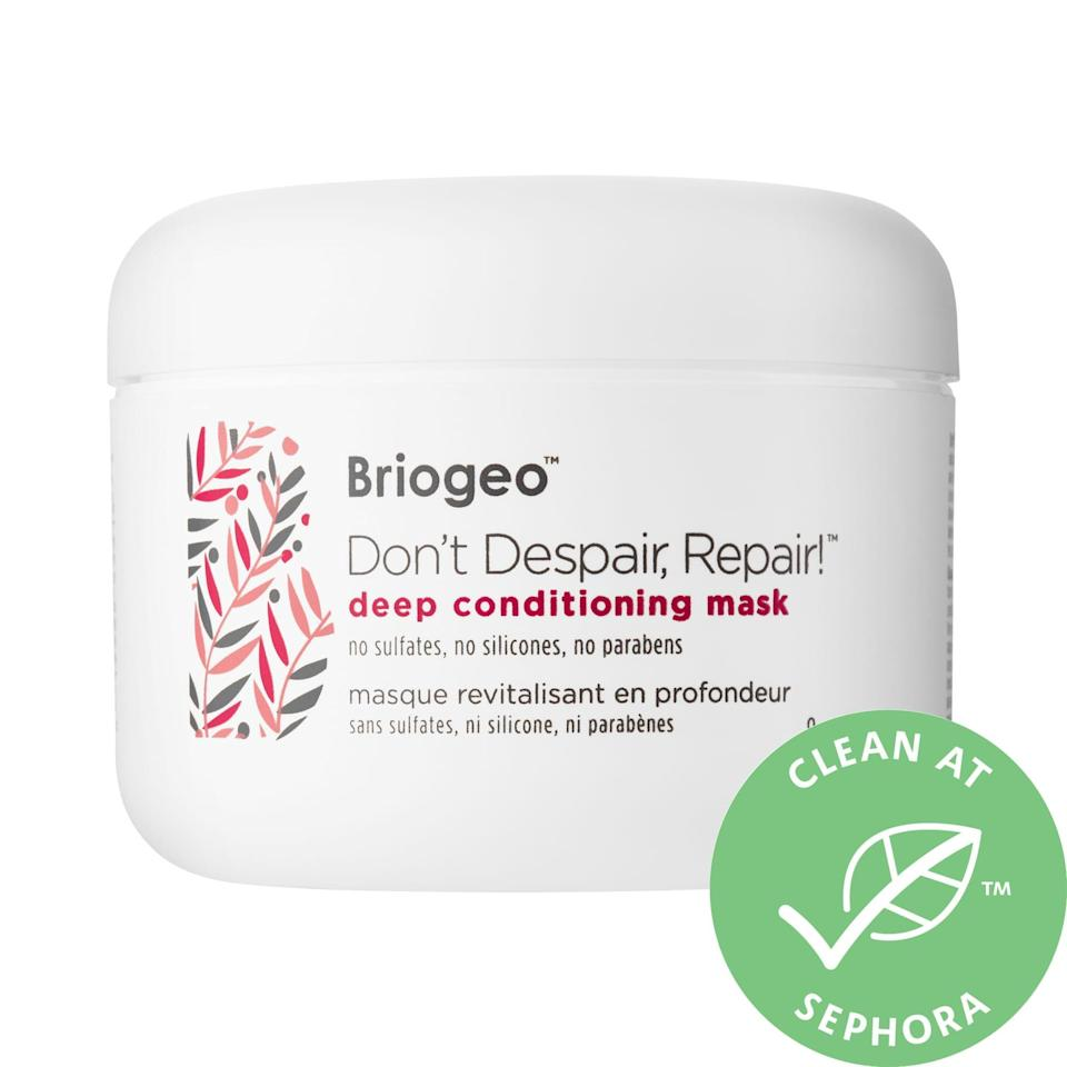 """<p><strong>Briogeo</strong></p><p>sephora.com</p><p><strong>$36.00</strong></p><p><a href=""""https://go.redirectingat.com?id=74968X1596630&url=https%3A%2F%2Fwww.sephora.com%2Fproduct%2Fdont-despair-repair-deep-conditioning-hair-mask-P388628&sref=https%3A%2F%2Fwww.womenshealthmag.com%2Flife%2Fg27102977%2Fgifts-for-new-moms%2F"""" rel=""""nofollow noopener"""" target=""""_blank"""" data-ylk=""""slk:Shop Now"""" class=""""link rapid-noclick-resp"""">Shop Now</a></p><p>A haircut and blowout probably isn't a top priority for her right now, but she can still DIY some TLC for her locks without leaving home. In just a few minutes, this vegan and cruelty-free hair mask will strengthen her hair and prevent future damage.</p>"""