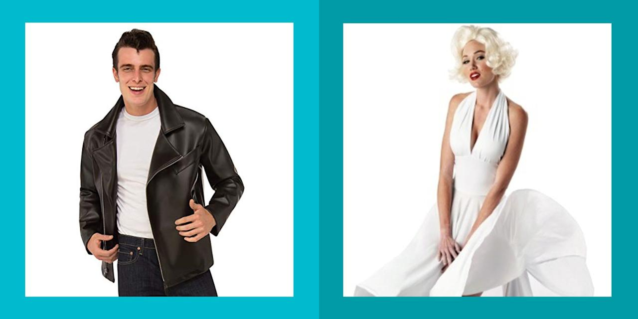 """<p>When you think of the 1950s, the first thing that comes to mind probably includes car hop girls in poodle skirts and guys with slicked back hair in greaser jackets. While those looks are certainly a staple of the decade, they aren't your only options if you're looking for '50s <a href=""""https://www.womansday.com/style/fashion/g28576657/superhero-costumes-for-women/"""" target=""""_blank"""">Halloween costumes</a> ideas to rock this year. </p><p>If you want to celebrate the iconic decade, there is definitely room to think outside the box! Dress as one of your favorite glamorous '50s movie stars, like Marilyn Monroe or <a href=""""https://www.womansday.com/life/g2578/audrey-hepburn-glamorous-photos/"""" target=""""_blank"""">Audrey Hepburn</a>, or embrace your kooky side by dressing as <a href=""""https://www.womansday.com/life/g2479/lucille-ball-vintage-photos/"""" target=""""_blank"""">Lucy from </a><em><a href=""""https://www.womansday.com/life/g2479/lucille-ball-vintage-photos/"""" target=""""_blank"""">I Love Lucy</a></em>. </p><p>And since some of these costumes only require one or two specific pieces of clothing, <a href=""""https://www.womansday.com/style/fashion/g490/20-clever-last-minute-costume-ideas/"""" target=""""_blank"""">they can be thrown together quickly</a> if you've waited until the last minute to pull together your look. Inspired by famous faces, must-see movies, and cultural movements of the era, these 50s Halloween costumes are a fun way to let your retro spirit shine this October. </p>"""