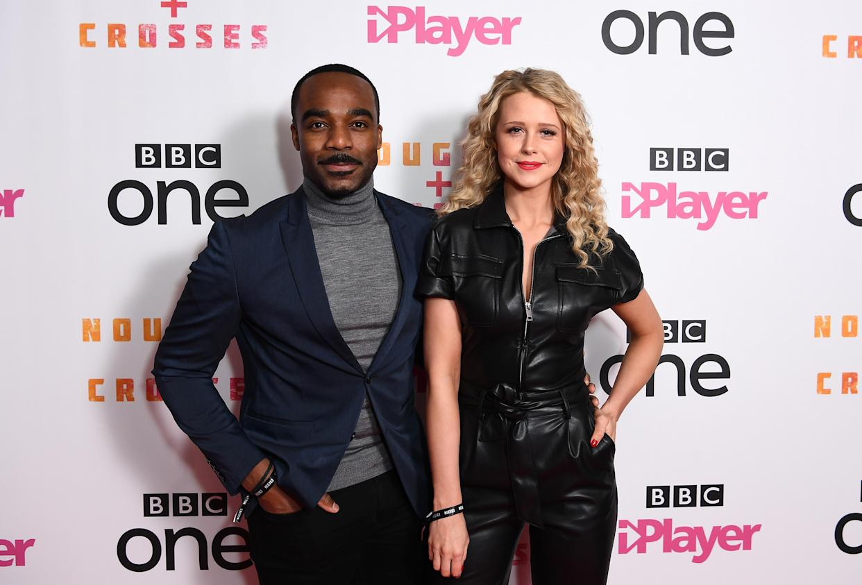 Ore Oduba and Portia Oduba are expecting their second child. (Photo by Jeff Spicer/Getty Images)